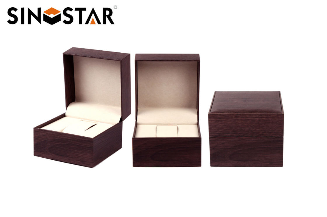 Single Watch Packing Box , Full Color Offset Printing Mens Watch Storage Box